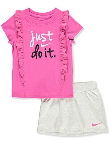 Nike Girls' 2-Piece Outfit - Birch Heather, - Girls Skirt Nike