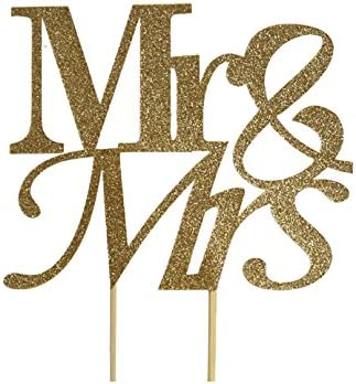 All About Details Silver Mr-/&-Mrs Cake Topper CATMMRS