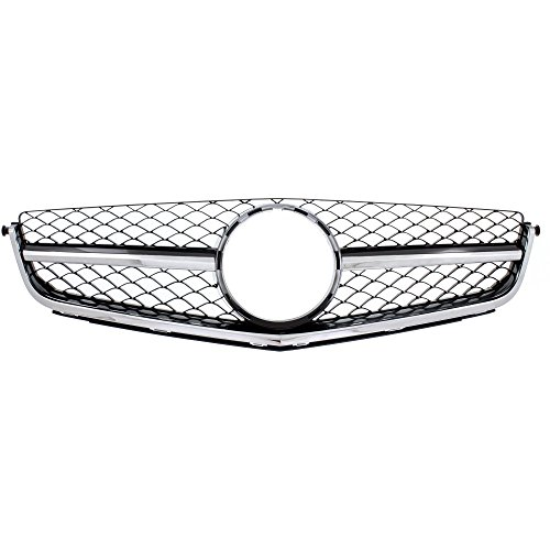 Grille Assembly for C63 Amg 12-15 Chrome Shell/Painted-Black Insert W/Amg USA Built (12-14 Sedan)/Coupe