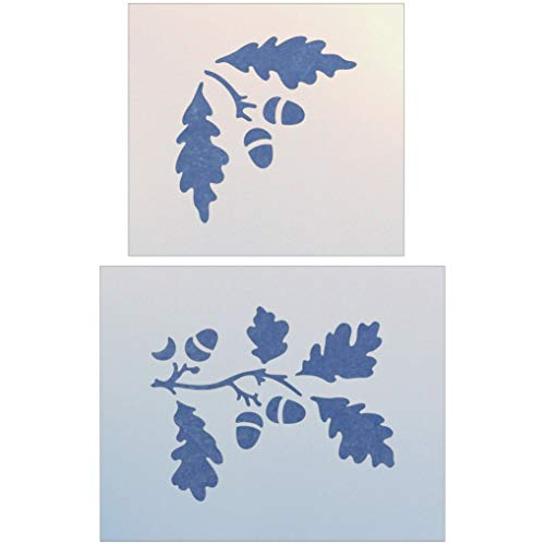 Oak Leaves and Acorns Stencil - The Artful ()