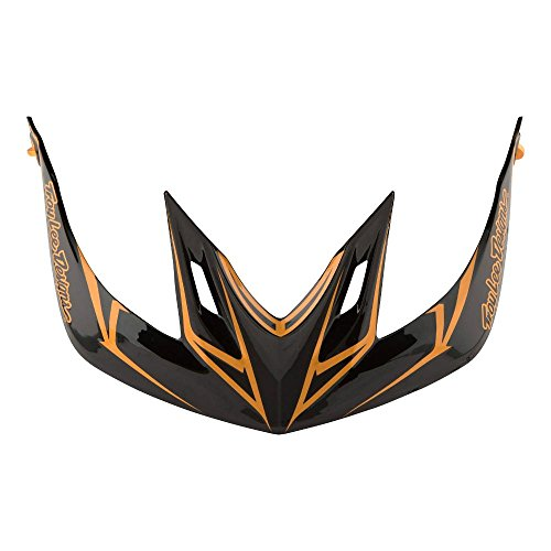 Troy Lee Designs Adult A2 Visor Pinstripe BMX Helmet Accessories - Black/Gold / One Size by Troy Lee Designs