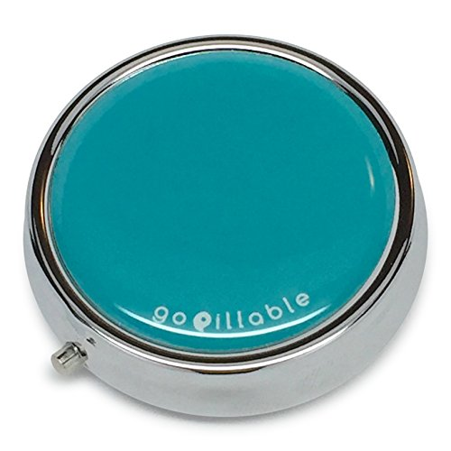 gopillable Teal Pill Box for Pocket or - Tl Black Pill