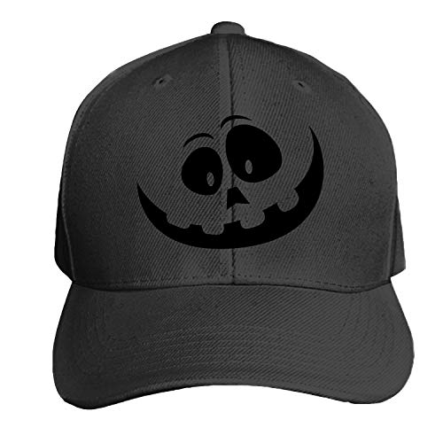 Peaked hat Carved Halloween Pumpkin Scary Silhouette Spooky Printed Sandwich Baseball Cap for Unisex Adjustable Hat