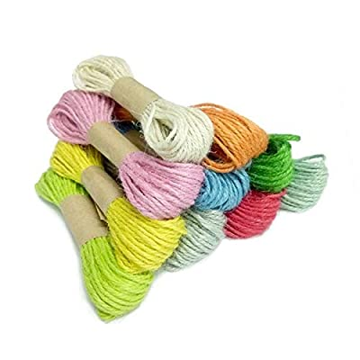 KINGLAKE 328 Feet 2mm Colorful Jute Twine Colored Gift Cord Twine 10 Colors for DIY Gift Wrapping Twine,Arts Crafts Packing String,10 Pcs X 32.8 Feet Jute String: Home & Kitchen