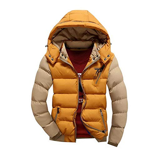 New Winter Coat Hooded Casual Fashion Jacket Down Padded Jacket Lannister Fit Men's Warm Jacket Winter Parka Slim White Jacket O5qwZ
