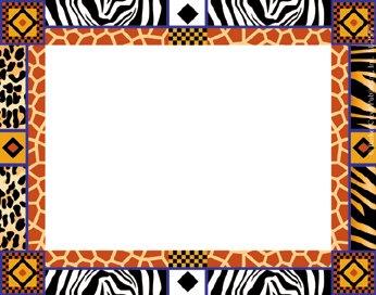 Barker Creek  Tags/Self-Adhesive Labels, Africa Name (Safari Name Tags)