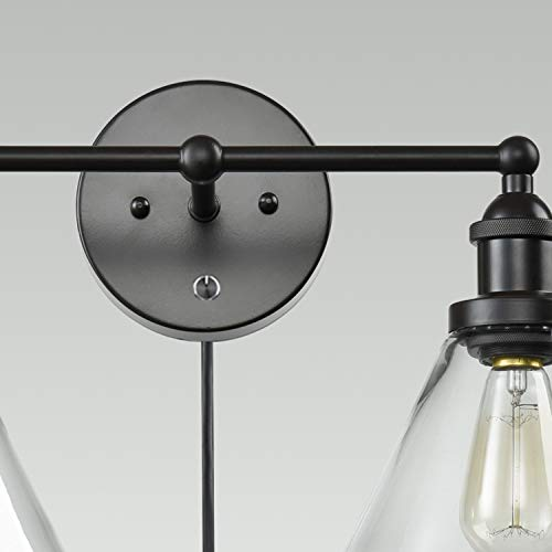 CLAXY Ecopower Lighting Mordern Glass & Metal 3-Lights Wall Sconce by CLAXY (Image #5)