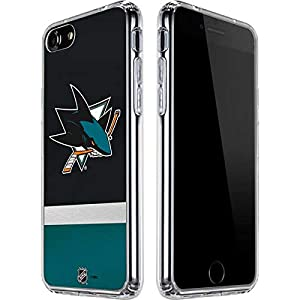 Skinit Clear Phone Case Compatible with iPhone SE – Officially Licensed NHL San Jose Sharks Jersey Design