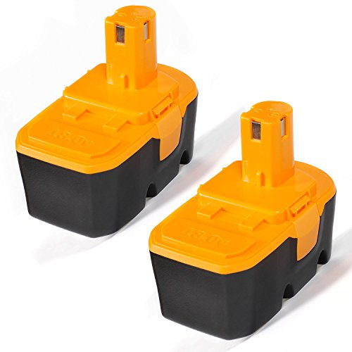 LENOGE 18V 3.0Ah NI-MH Replacement High Capacity Battery for Cordless Power Tools Ryobi One Plus P100 P101 130224028 130224007 130255004 ABP1801 ABP1803 (2-Pack)