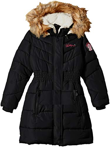 - Weatherproof Girls' Toddler Hooded Bubble Jacket, Black 2T