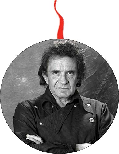 (Johnny Cash Christmas Tree Holiday Ornament Printed Double- 2 Sided Decoration Great Unisex)