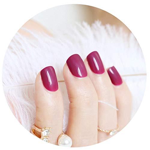 24Pcs 54 Section Beautiful Candy Color Nail Finished False Nails Short -