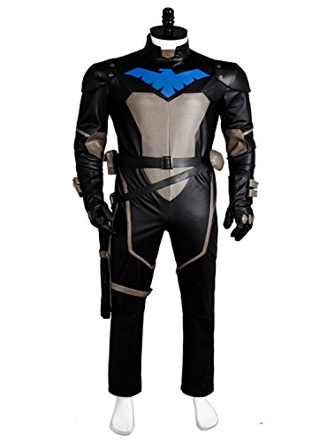 UU-Style Activity Dress Superhero Robin Dick Grayson Halloween Cosplay Costume Jumpsuit (Women:X-Small, Style B)