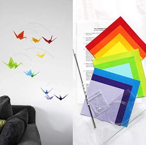 Amazon.com: Origami Paper Crane Mobile Making Kit, Rainbow ...