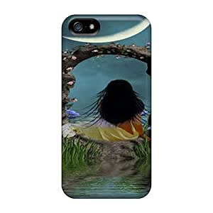 AlexandraWiebe Perfect Cases For Iphone 5/5s/ Anti-scratch Protector Cases (moon)