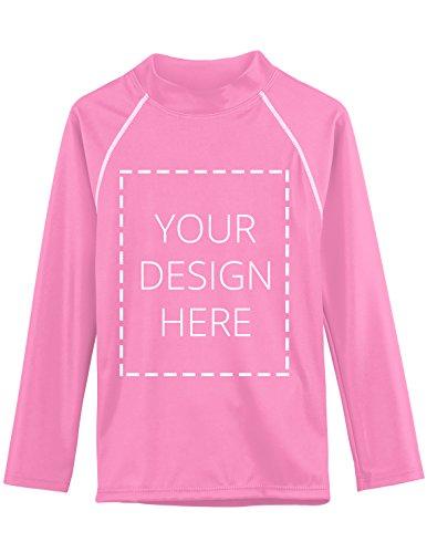 Tuga Adult Custom Long Sleeve Rash Guard, Light Pink, Medium by Tuga Sunwear
