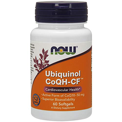 NOW Supplements, Ubiquinol CoQH-CFTM (the Active Form of CoQ10 - 50 mg with Superior Bioavailability), 60 Softgels