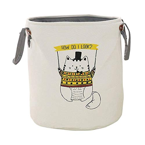 Autumn Water Waterproof Canvas Laundry Hamper Bag Animal Pattern Clothes Storage Baskets Home Clothes Kids Toy Storage Laundry Basket