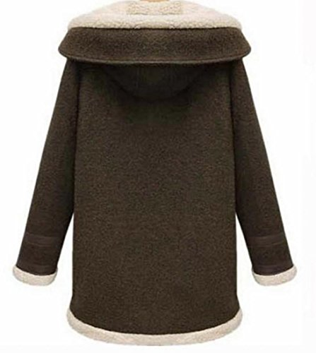 Delle Addensare Donne Pulsante Tasca Eku 2xl Outwear Caffè Selvaggio Hoodie COxqwx0F4