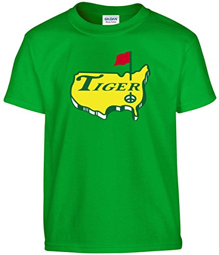 JM Shirts Green The Masters Tiger Logo T-Shirt Adult (Shirt Woods Tiger)