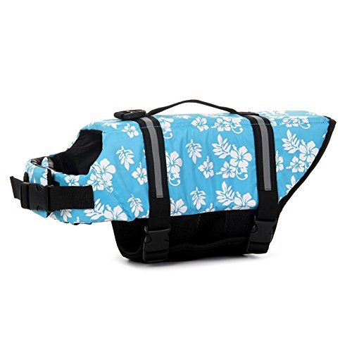 TESOON Assorted Color Choice Pet Dog Saver Life Vest Coat Flotation Float Life Jacket Aid Buoyancy