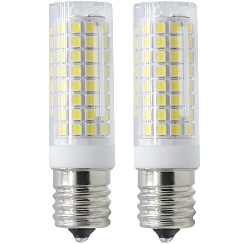 E17 LED Bulb for Microwave Oven Over Stove Appliance, 7 Watt(75W Halogen Bulbs Equivalent), 110-130V, Intermediate Base, Dimmable, 2-Pack (Daylight White)