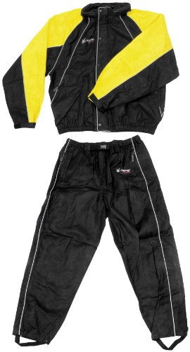 Frogg Toggs Hogg Togg Rainsuit , Size: 2XL, Distinct Name: Black/Yellow, Primary Color: Black, Gender: Mens/Unisex FT10322-27-2XL