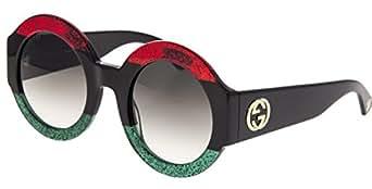 Amazon.com: Gucci GG0084S Sunglasses Red Black Green w
