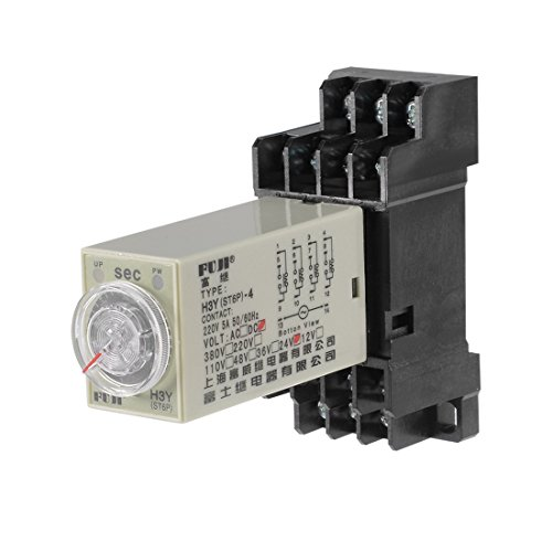 Terminals Range Adjustable Delay Timer Time Relay H3Y(ST6P)-4 with Base ()