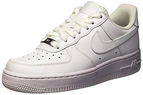 Nike Women's Air Force 1 '07 White/White Basketball Shoe 11 Women US by NIKE