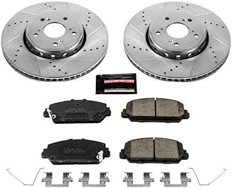 Power Stop K6940 Front Z23 Evolution Kit with Drilled//Slotted Rotors and Ceramic Brake Pads