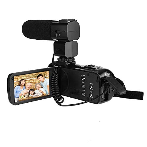 Qinlorgo Camera,DV Camera 1080P Camera HDV-Z20 3.0 in IPS Screen WiFi 16x Digital Zoom DV Digital (US)