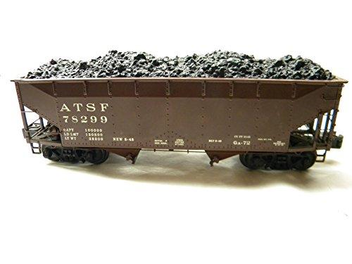 Lionel 17019 Santa Fe Die-cast 50 Ton Offset Hopper with Coal Load Ton Coal Hopper