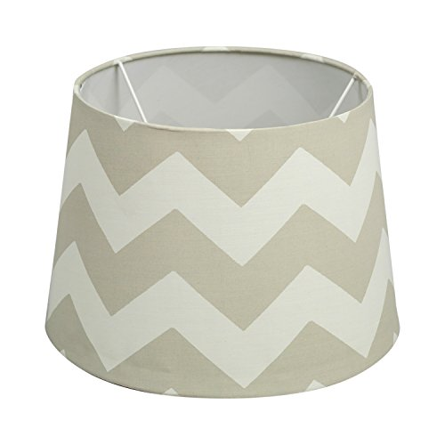 Lolli Living Lampshade, Grey - Off white Zig Zag (Lolli Living Lamp)