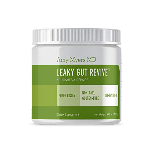 Dr. Amy Myers Leaky Gut Revive® Powder for Leaky Gut Repair- Reduce Symptoms Like Constipation, IBS, Diarrhea, Bloating, and Irregularity - Perfect Supplement to Naturally Maintain Healthy Gut Lining (Best Foods For Leaky Gut)