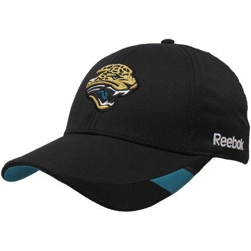 Reebok Jacksonville Jaguars Black Coaches Sideline Rain Flex Fit Hat ()