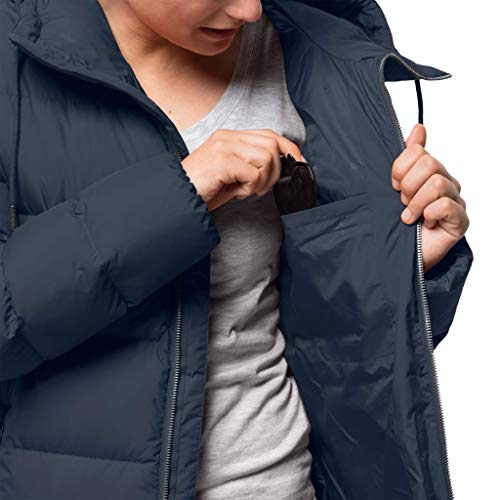 ce23c22a442 Jack Wolfskin Women's Crystal Palace Down Puffer Long Jacket: Amazon.co.uk:  Sports & Outdoors