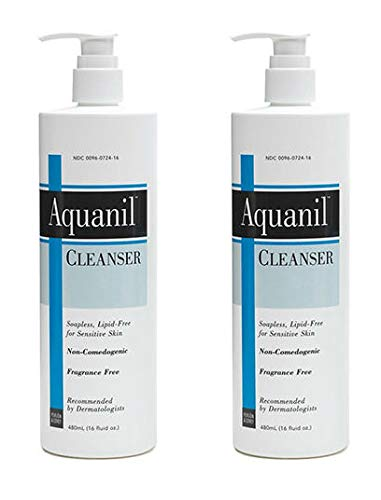 5 Pack Aquanil Cleanser Gentle Soapless Lipid-Free for Sensitive Skin 16oz Each Kiss My Face Soap, Moisture, 9 Oz