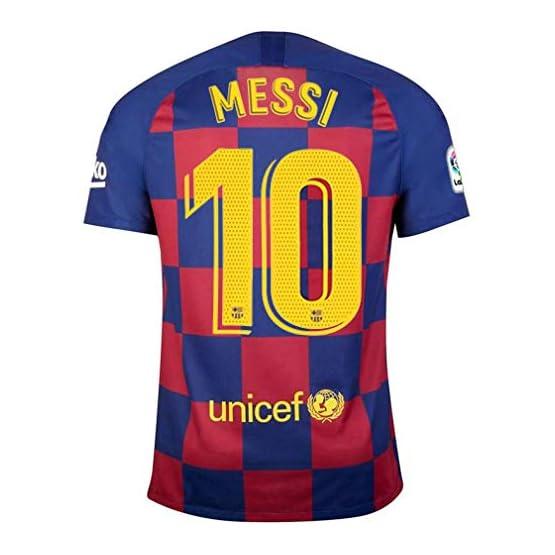 LIZHEN 2019-2020 Barcelona New Season # 10 Maillot de Football pour Homme Messi Home