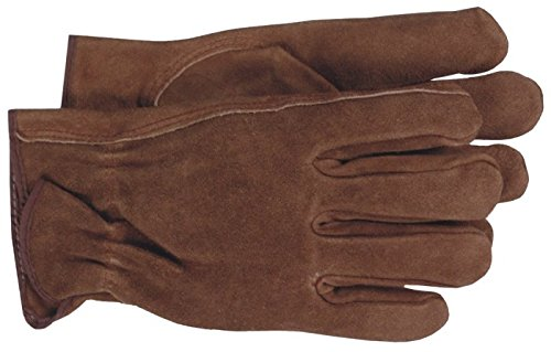 - Boss Gloves 4066L Large Smoke Brown Unlined Split Leather Gloves