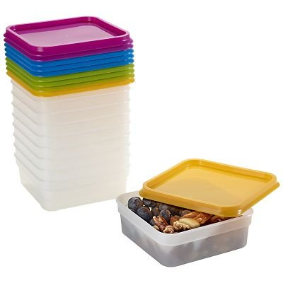 Lakeland Stack-a-Boxes Plastic Food Containers & Lids (400ml) x 10