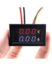 """Eiechip LED Digital Voltmeter Ammeter DC Digital Multimeter 100V 10A Blue Red LED Amp Dual Digital display Volt Meter Gauge Car Current Monitor Tester 0.28"""" inch"""