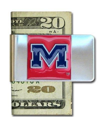 NCAA Ole Miss Rebels Steel Money Clip