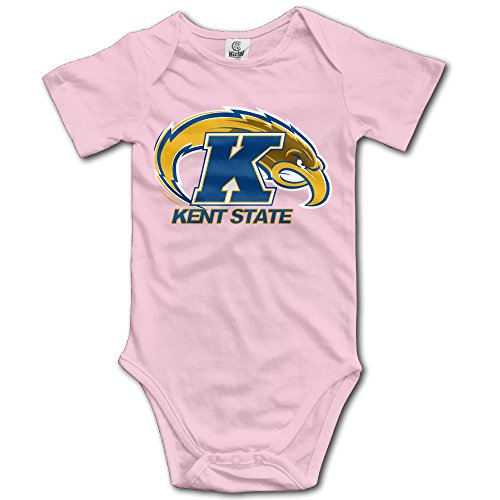 Price comparison product image OOKOO Baby's Kent State University Athletic Logo Bodysuits Pink 6 Months