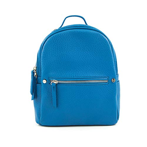 Price comparison product image EMPERIA Vegan Leather Small Casual Daypack Backpack for Women French Blue