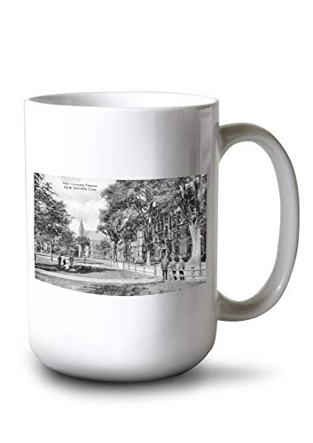 Lantern Press New Haven, Connecticut - View of Yale University Campus (15oz White Ceramic Mug)