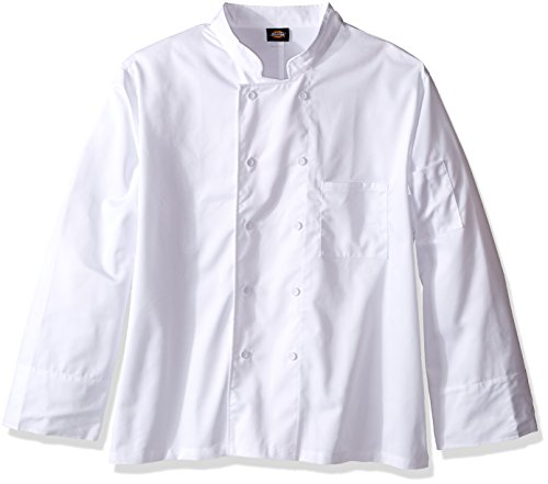 Dickies Chef Classic Cloth Covered Button Coat, White, XXX-Large from Dickies