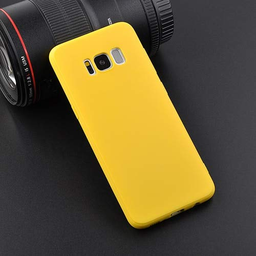 ndy Color Phone Case for Samsung Galaxy S9 S8 Plus Note8 Note9 Cases for Galaxy (Yellow, for Galaxy S9) ()