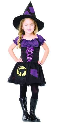 Black Cat Witch Child's Costume - Large by Leg Avenue -