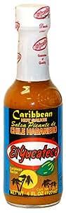 El Yucateco Caribbean Habanero Hot Sauce, 4oz Bottle